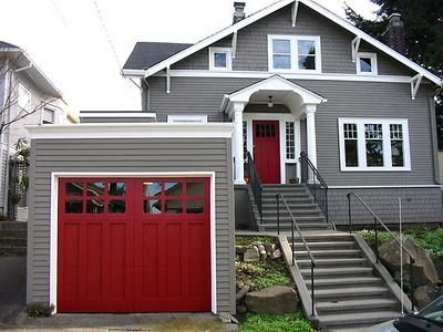 red door, tips for painting or staining your windows and doors
